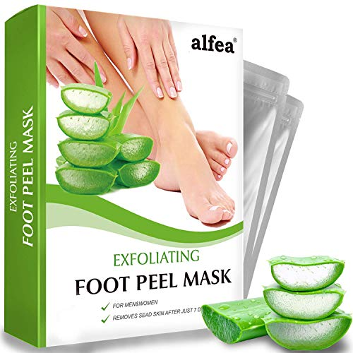 Foot Peel Mask by alfea, Swan Star Foot Mask for Soft Baby Feet - Exfoliating Foot Peel Masks That Remove Dead Skin Feet Peeling Mask, Remove Calluses and Dry Skin For Men and Women