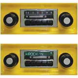 Bluetooth Enabled '67-'72 Chevy Truck 300w Slidebar AM FM Car Stereo/Radio
