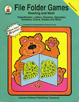 File Folder Games  Reading and Math  Preschool   Classification Letters Rhyming Opposites Numbers Colors Shapes and More  Carson-Dellosa CD-2001