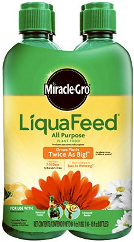 Miracle GRO 1004325 LiquaFeed All Purpose Plant Food Refill Pack Does Not Include Spoon 16 Oz