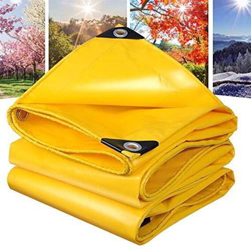 Impermeable De La Lona, con Ojales Material Grueso Amarillo Resistente Adecuado para Resistir Todo Tipo De Mal Tiempo. (Color : Yellow, Size : 5X7M)