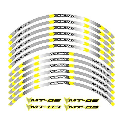 4 Color Calcomanías de la Rueda de la Motocicleta Pegatinas Reflectantes Rim Stripes Motorbike Pegatinas para Moto (Color : 3)