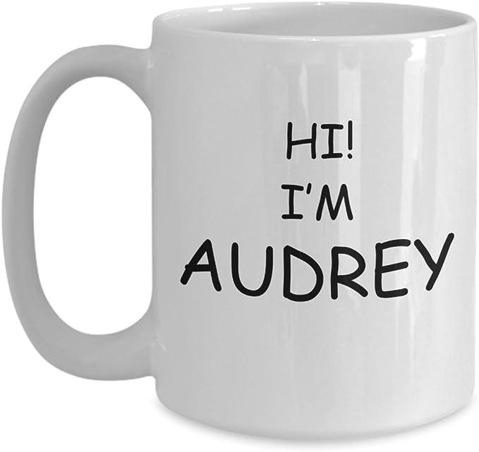 Audrey Mug - Name White Coffee Mug