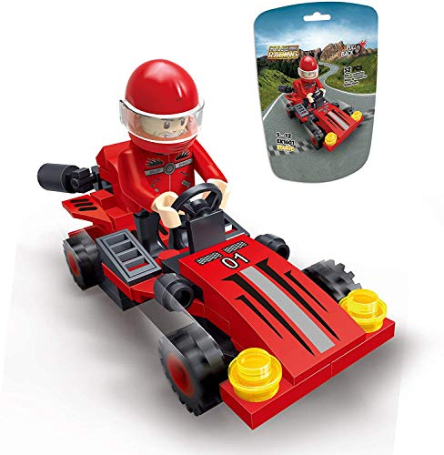 Toy Cars,EDUKiE Pull Back Cars Building Kit Mini Assorted Construction Vehicles & Race Car Toy Gift for Boys & Girls Age 5+,New 2020 Red