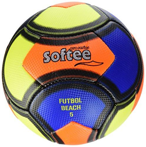 Softee 0000701–Ballon de Football de Plage, Bleu, Taille L