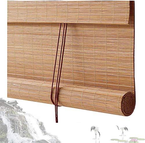 RENQIAN Bamboe Gordijn Rolgordijn Blind Raamschaduwen Semi-Shading Ademende Partitie Achtergrond Muur Restaurant Theekamer 60Cm / 80Cm / 100Cm Breed