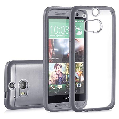 GreatShield RETAIN PC + TPU Case for HTC One (M8) 2014 - Gunmetal Gray