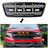 Seven Bears Direct Front Grill Replacement for F150 2004 2005 2006 2007 2008, Including XL, XLT, Lightning, King Ranch and Limited, Raptor Style Grille, Matte Black