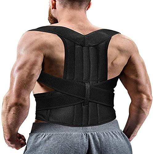 Cinta Colete Corretor de Postura Coluna Lombar Clavícula - corretor de costas ajustável e alívio da dor no pescoço, nas costas e no ombro e na clavícula (M)