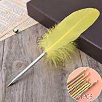 ペン 無料でカラフルなエレガントフェザーボールペンのために結婚式の贈り物学生ローラーボールペン付き1PCS色鉛筆 万年筆 (Color : 10, Ink Color : ブラック)