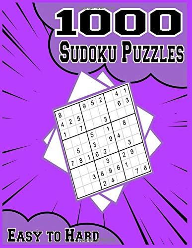 1000 Easy to Hard Sudoku Puzzles: Pretty Pocket-Size Sudoku Puzzle Book for Adults | Easy to Hard Sudoku Puzzles with Solutions (Brain Games Book)