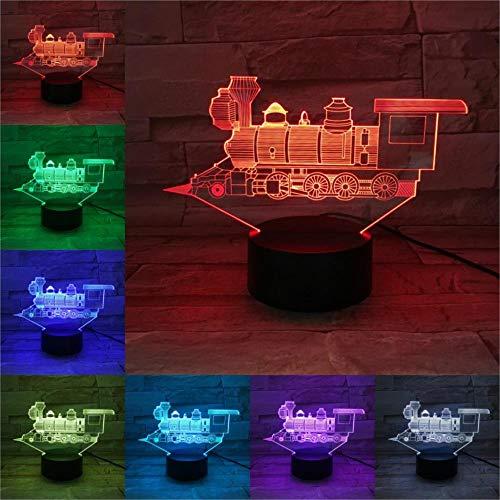 Lámpara 3D, luz nocturna, bombilla LED de vapor, iluminación multicolor, regalo de Navidad para niños, amigos, mando a distancia RGB