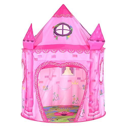 Tacobear Princess Play Tent for Kids Girls Princess Castle Playhouse for Indoor and Outdoor Portable Pop Up Toy Tent with Carry Bag for Girls Boys