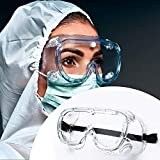 Safety Goggles FDA Registered, Z87.1 Safety Glasses Anti-Fog Eye Protection-Medical Goggles Fit Over Eyeglasses-Unisex Ultra Clear Protective Glasses Protective Eyewear-Lab Goggles Medical Protection