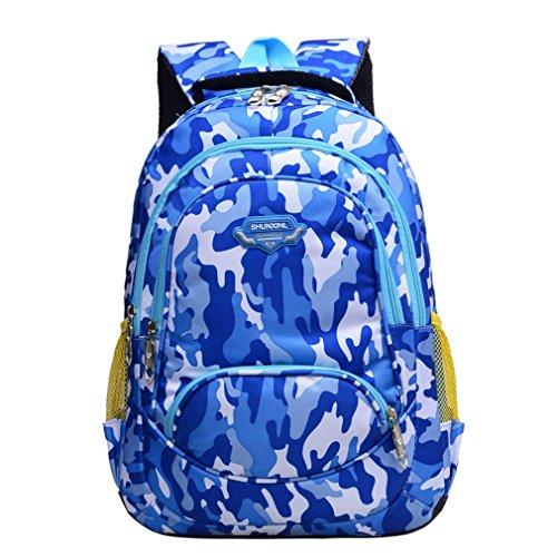 Schule Rucksack für Teenager Schüler Schule Tasche Outdoor Daypack Camouflage, Kinder, blau