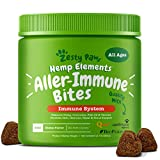 ALLERGY & IMMUNE SUPPORT - Hemp Allergy Immune Bites contain nourishing natural and organic ingredients that may help dogs with skin itching, hot spots, seasonal allergies, and canine digestive activity. HOLISTIC HEMP ENHANCED BLEND - These cheese fl...