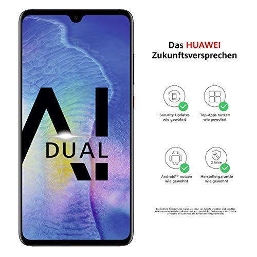 Huawei Mate20 Dual-SIM Smartphone B&le (6,53 Zoll, 128 GB interner Speicher, 4 GB RAM, Android 9.0, EMUI 9.0)schwarz+ USB Typ-C-Adapter[Exklusiv bei Amazon] - Deutsche Version