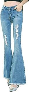 YOUCAI Mujer Vaqueros Acampanados Pantalones Largos Elástico Push Up Pantalones Elástico Jeans Cintura Alta Pantalones de ...