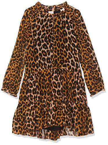 Scotch & Soda Mädchen All-Over Printed Ruffle Dress in midi Length Kleid, Mehrfarbig (Combo H 587), 128 (Herstellergröße: 8)