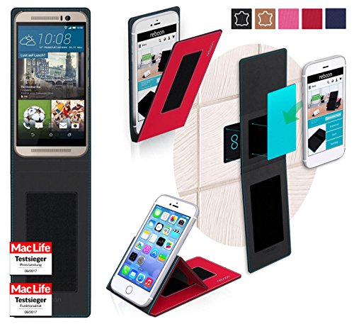 Hülle für HTC One M9s Tasche Cover Hülle Bumper   Rot   Testsieger