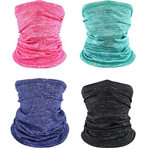 SATINIOR Kids Gaiters Summer UV Sun Protection Face Cover Neck Gaiter Headwear Bandana Face Scarf, Mixed Dark Colors, Medium
