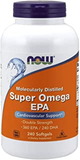 Now Supplements, Super Omega EPA, Molecularly Distilled, 240 Softgels