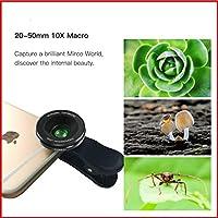 Super Macro Camera Lens With Clip Smartphone. Professional Photography 10X Macro Lens Kits for iPhone Samsung Smartphone. Lens 10X Macro Lens HD Effect Smartphone Camera Lens [並行輸入品]