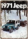 KODY HYDE Metall Poster - Jeep Wheel Drive - Vintage