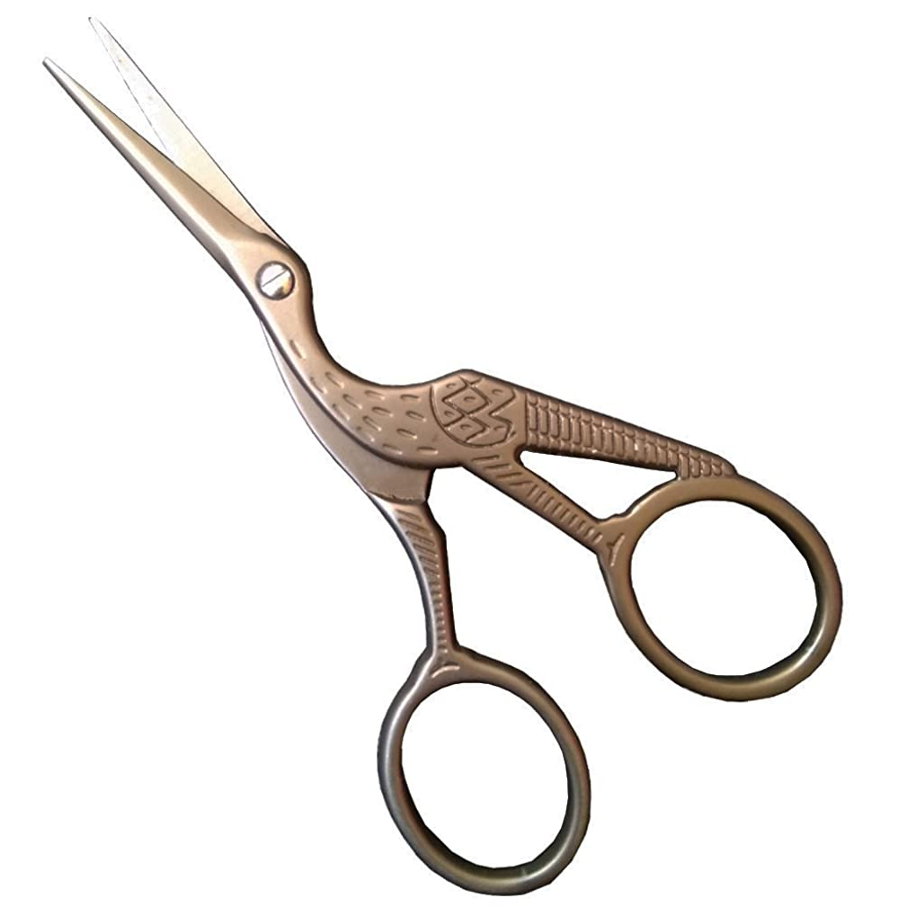 Antique Sewing Scissors Classic Embroidery Scissors Stork Sharp Tip Small Decorative Scissors for Needlework Craft Office Everyday Use