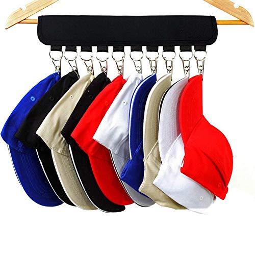 CHUITF Fordable hoedenrek kledinghangers opbergkap organizer honkbalhoed ophanghaak clip draagbare reis huis deurhanger