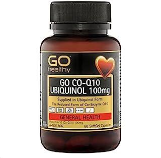 Go Healthy Co-Q10 Ubiquinol 100mg 60 Softgel Capsules, Amber (Pack of 1)