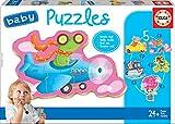 Educa Borrás - Baby Puzzle, Animales al Volante (17141)