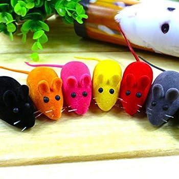 Jouet mignon pour animal domestique en forme de petite souris qui couine pour chat et chiens
