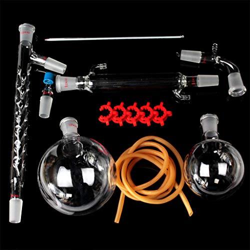 ZJL220 1000 ml Aparato de destilación vitrina de laboratorio Kit Set Laboratorio de Química Aparato de destilación para vidrio destilación