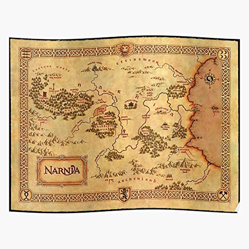 World Wardrobe Lion Peter Map Narnia Witch Aslan Home Decor Wall Art Print Poster ! Home Decor Wandkunst drucken Poster !