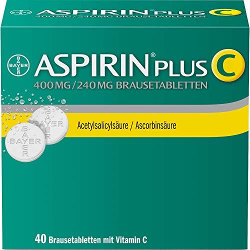 Aspirin PlusC Brausetabletten, bei Kopfschmerzen underkältungsbedingten Schmerzenwie Hals-undGliederschmerzen und Fieber, 40Stück