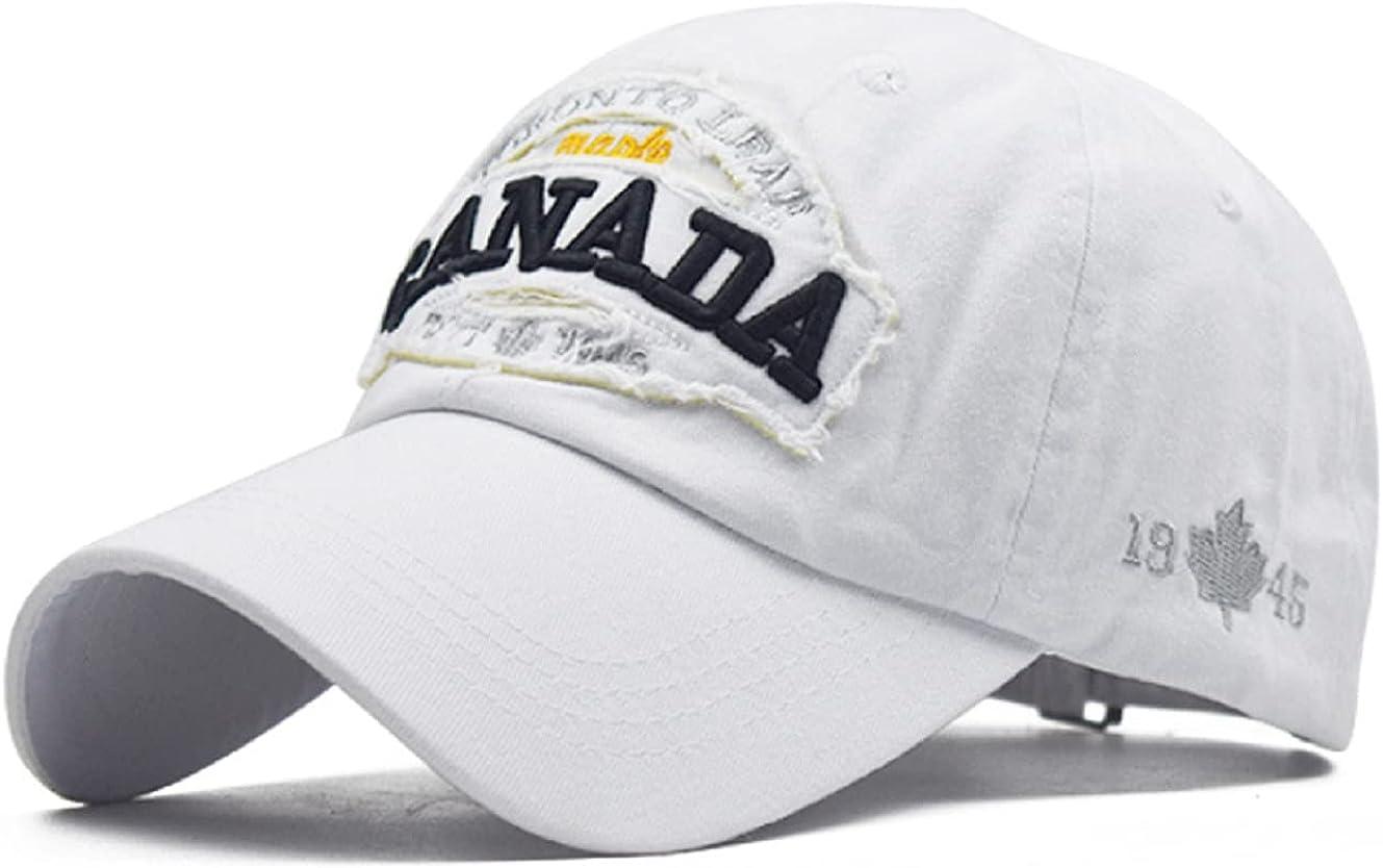Vintage Distressed Dad Hat Trucker Cap Light Acid Washed Denim Baseball Cap Canada Adjustable Clip for Universal Fit