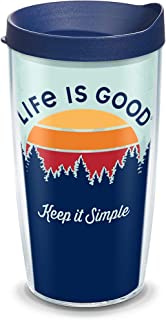 Tervis 1314614 Life is Good - Keep It Simple Insulated Tumbler with Wrap and Lid, 16 oz - Tritan, Clear