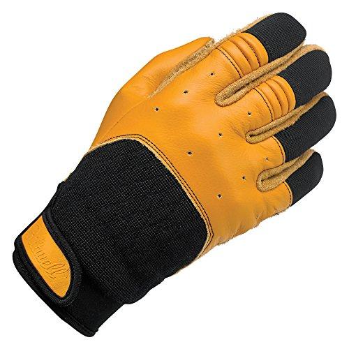Biltwell GB-XSM-TN-BK Unisex-Erwachsene Handschuhe, Hellbraun/Schwarz, Größe XS