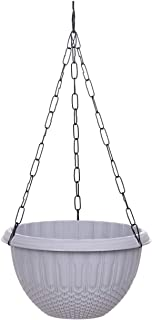 AASHU Hanging planters with Chain (Colour Grey- Pack of 1)