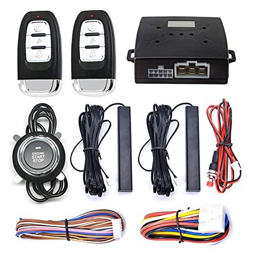 Qivor Control Remoto Alarma de automóvil Inteligente con botón AUTOSTART Start Stop Stop Motor Bloqueo Sistema de Encendido de Entrada sin Llave RFID Cambiar ACCIDENTE (Color : GYA6-A)