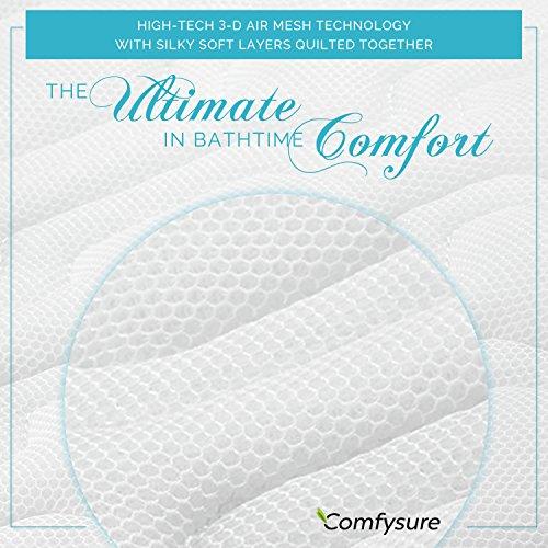 COMFYSURE Bath Cushion for Tub - Extra-Large Full Body Bath Tub Pillow