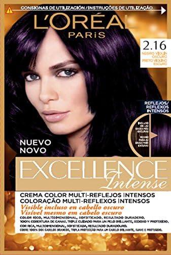 LOréal Paris Excellence Intense Coloración, Tono: 2,16 Negro Violín Oscuro