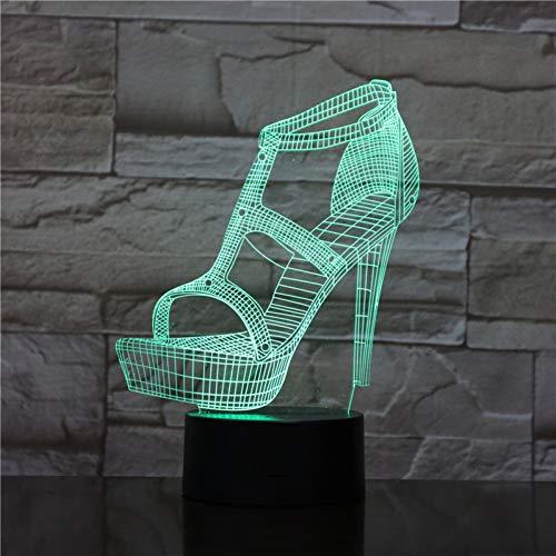 Suhang 3D LED-nachtlampje, sfeer, tafellamp, bedlampje, kleine vriendin, verjaardagscadeau, decoratieve verlichting, vrouwen, hoge hakken, schoenen