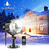 Snowfall Christmas LED Light Projector,Rotating Snow Falling Projector Lamp with...