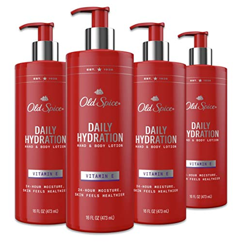 Old Spice Daily Hydration Hand & Body Lotion With Vitamin E, 16 Fl Ounce, Pack of 4