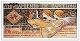 ArtPlaza Panel Decorativo-Alexandre De Riquer 3Rd Exposicion De Bellas Artes, Madera, Multicolor, 100x1.8x50 cm
