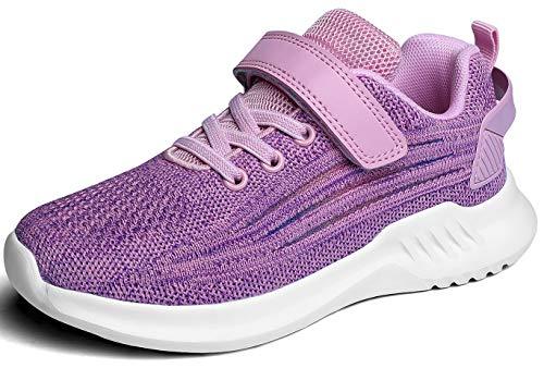 ChayChax Kinder Leicht Laufschuhe Atmungsaktive Turnschuhe Jungen Mädchen Klettverschluss Sneakers Outdoor Sportschuhe (Pink, 31 EU)