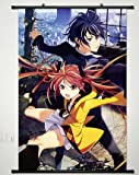 Home Decor Anime Black Bullet Wall Scroll Poster Fabric Painting Satomi Rentaro & Aihara Enjyu 23.6 X 35.4 Inches-011