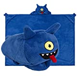 Comfy Critters UglyDolls Ugly Dog Hooded Animal Blanket for Kids, Wearable Hoodie Blanket, Cozy Fleece Blanket and Pillow for Play, Travel, Sleeping